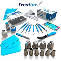 Innoo Tech 34 pcs Cake Decorating Equipment, Professional Cupcake Decorating Kit Baking Supplies, Cone Style Coupler, Piping Tips, Normal Coupler, Cone Piping Tips (430 Quality), Pastry Tool