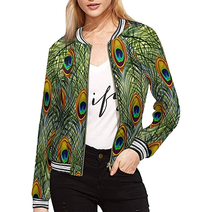 Amazon.com: InterestPrint - Chaqueta de plumas de pavo real ...