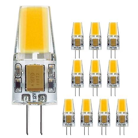 G4 COB Bombilla LED 30W Bombillas halógenas equivalentes, 3W 103-110lm/W 12V