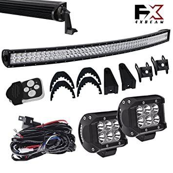 Amazon.com: 4XBEAM DOT Windshield Roof Lights 54 Inch Curved Offroad on tundra suspension, tundra supercharger, tundra engine, tundra bumpers, 2015 tundra brake controller harness, tundra trailer brake harness,