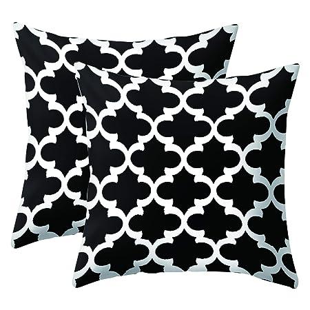 Cuscini Divano Bianco E Nero.Jotom Simple Geometric Super Soft Fodere Per Cuscini Per Divano