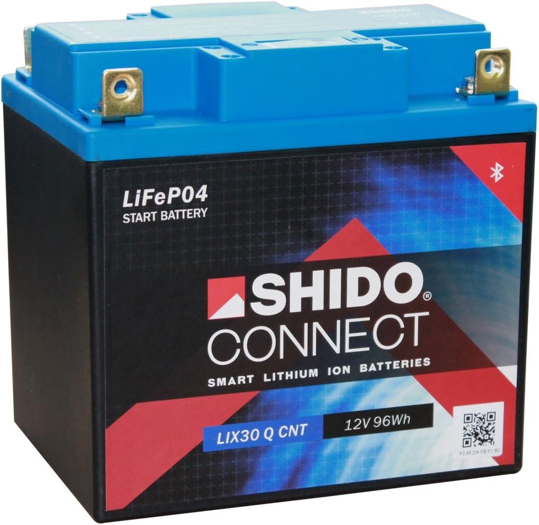Batterie Shido Connect Lithium Lix30l Cnt Yix30l Bs 12v 30ah Maße 166x126x175 Auto