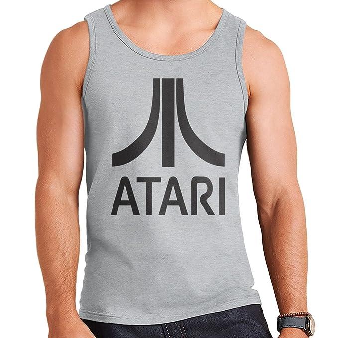 Men's Grey Atari Logo Vest Top, S to XXL
