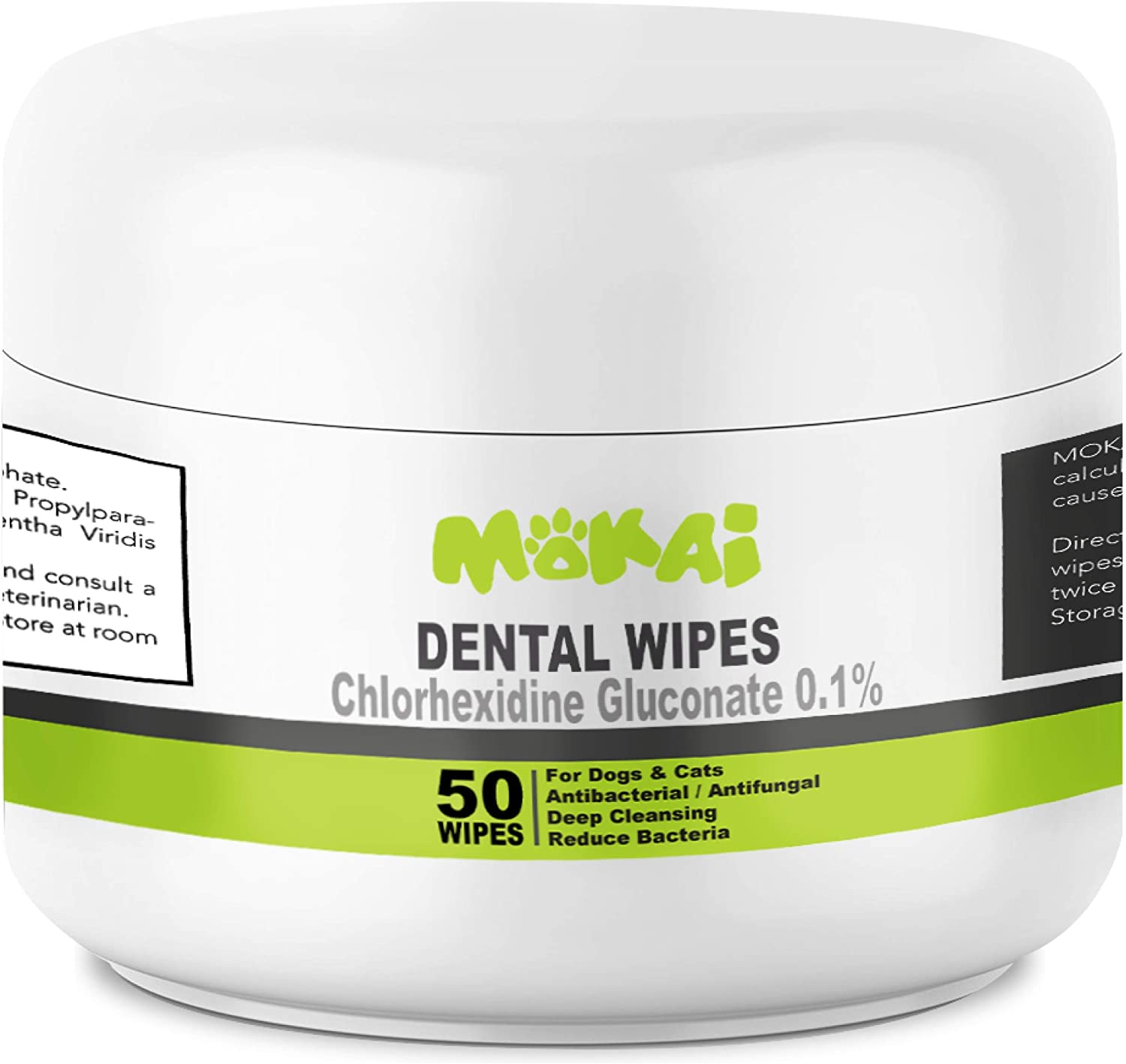 MOKAI Dental Wipes for Dogs and Cats (50 Count) : Pet Supplies