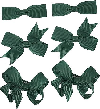 2 Packs Of Black Big Bow Hair Clips//aligator Clip//schools Uniform