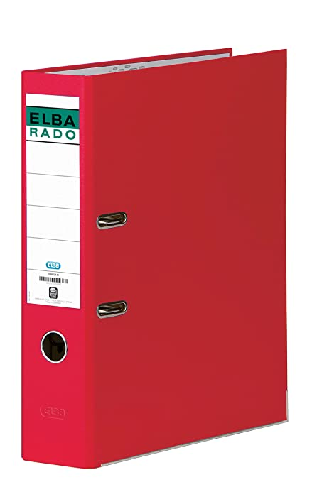 Elba Rado Chic - Archivador palanca en PVC, Fº, color rojo: Amazon ...
