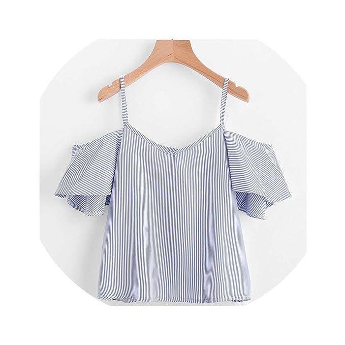 e3ab2d7d4 C-cherry women T shirt Feitongblusa Feminina Coldhoulder Floral Printhort  Crop Blusa Mujer De Moda,Clear,L,: Amazon.ca: Clothing & Accessories