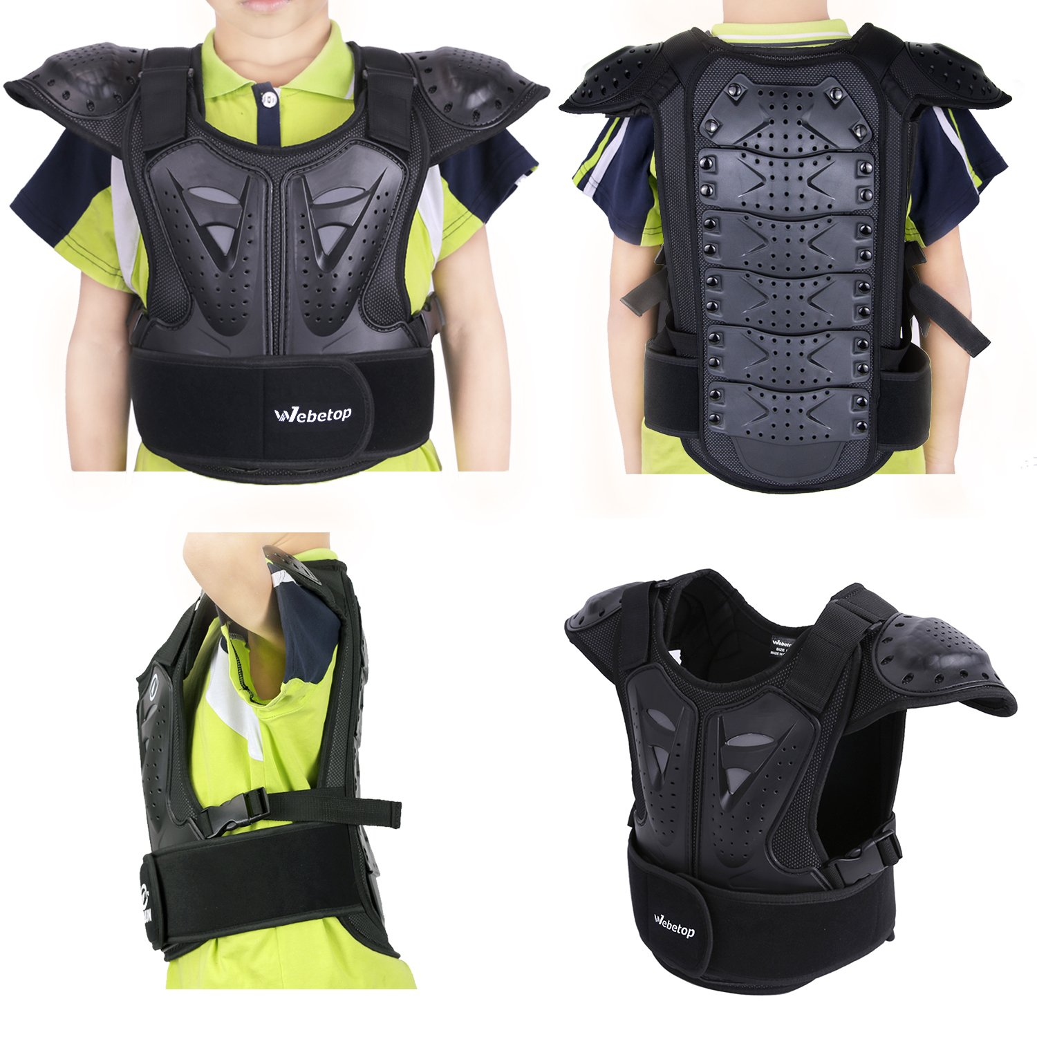 Webetop Kids Dirt Bike Body Chest Spine Protector Vest Protective for Dirtbike L by Webetop (Image #3)