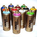 Montana Gold Premium Spray Paint 400ml Main Colors Set of 12