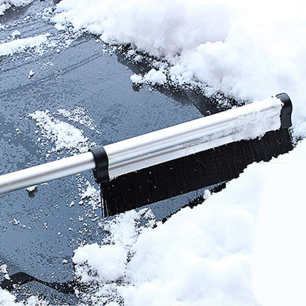 Car Truck SUV 1PCS Auto Snow Brush Auto Ice Scraper Car Snow Brush and Ice Scraper 25.6 Extendable Snow Brush with Ice Scraper