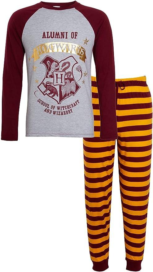 Harry Potter - Pijama para hombre, diseño de Alumni Hogwarts PJs Gryffindor Rojo Gryffindor L: Amazon.es: Ropa y accesorios