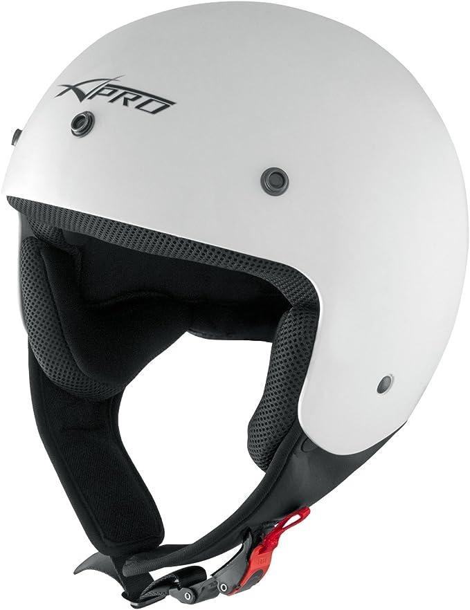 Motorradhelm Quad Roller Offenes Jet Helm Custom Ece 22 05 Polierten Weiss Xl Auto