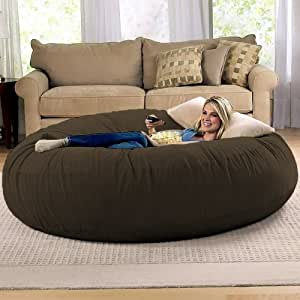 Jaxx 6 Foot Cocoon Large Bean Bag Chair for Adults, Chocolate
