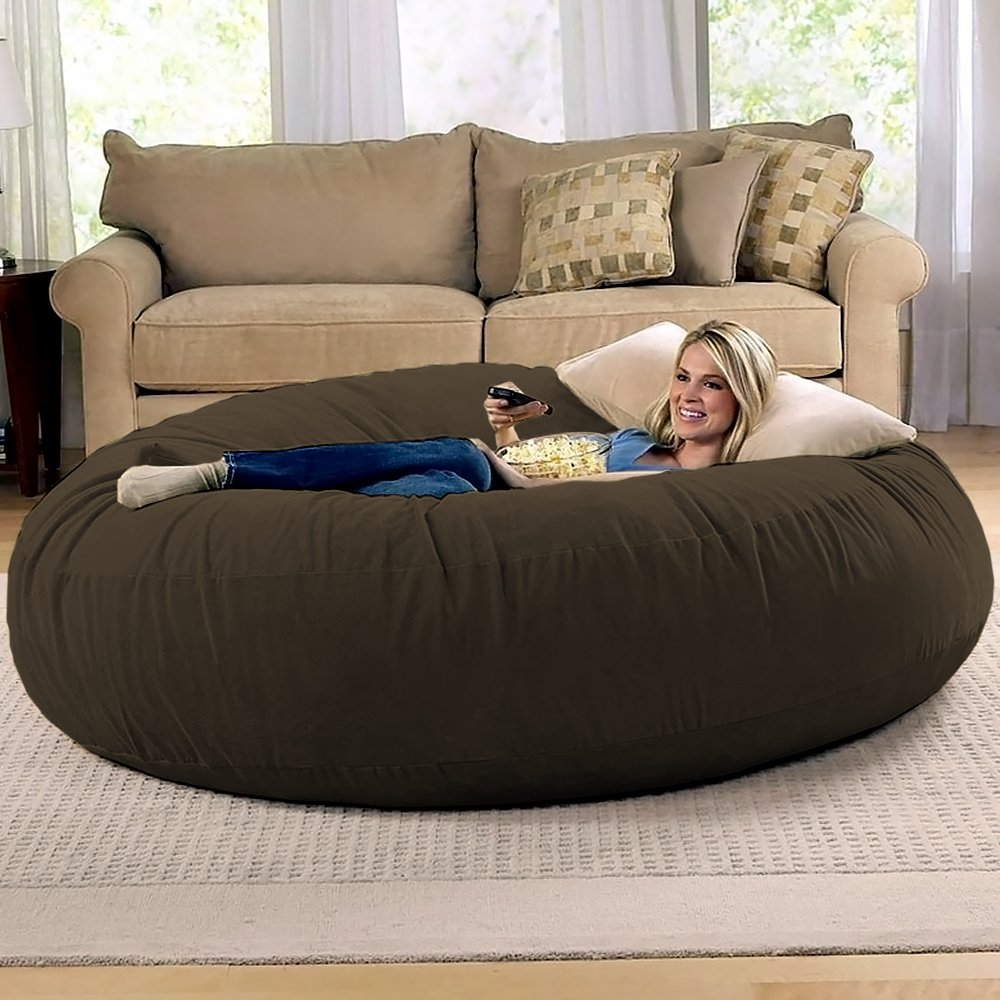 Jaxx 6 Foot Cocoon - Large Bean Bag Chair for Adults, Chocolate