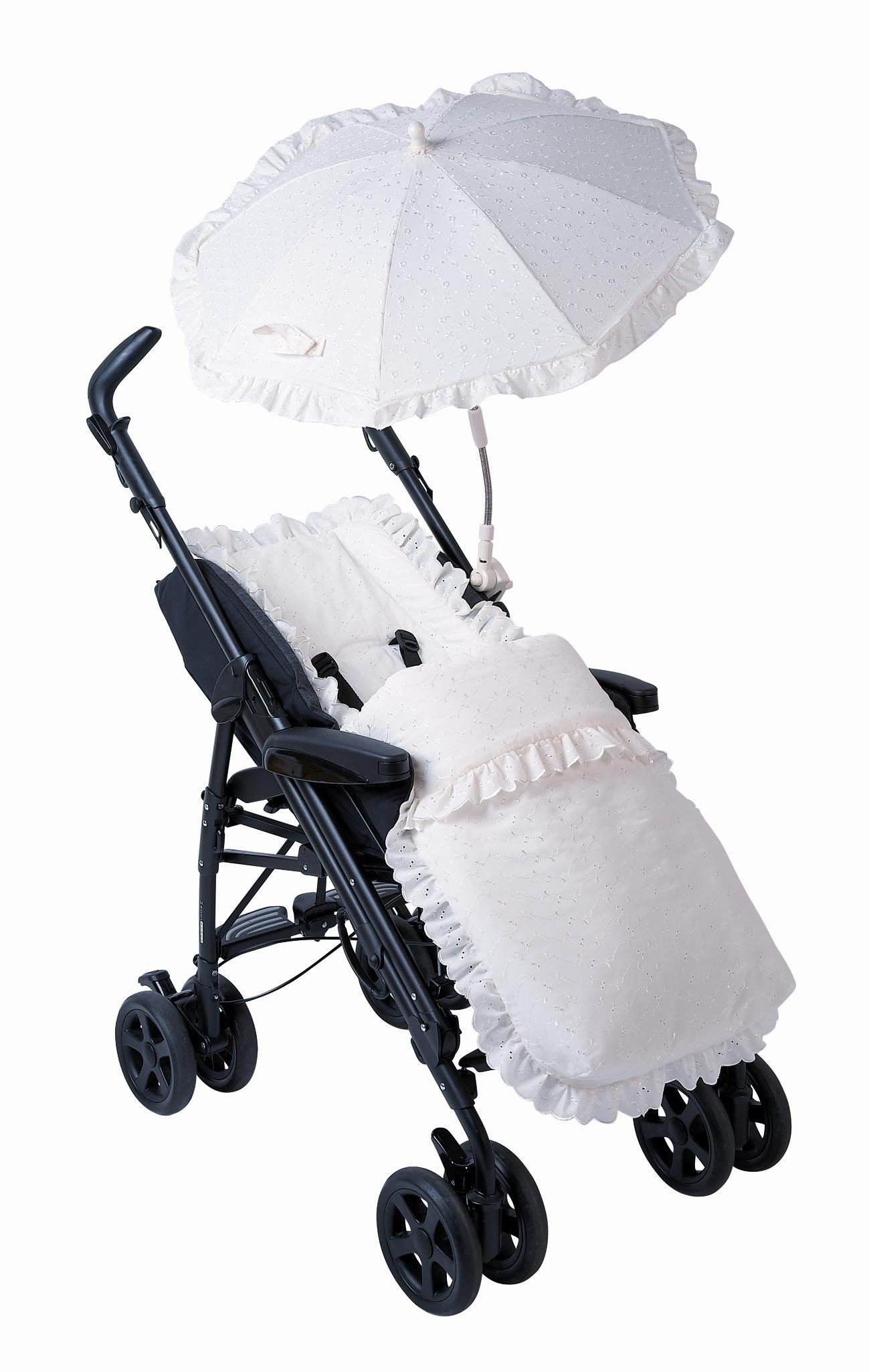 Broderie Anglaise Sun Parasol - White - Baby Shade