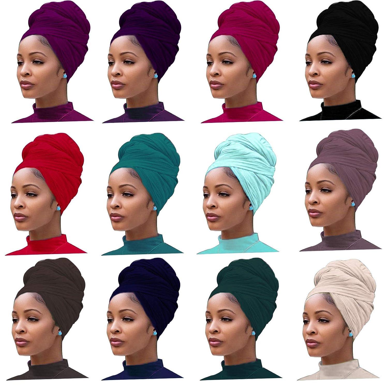 African Print Stretch Headband Women Headwear Turban Bandage Hair Accessories