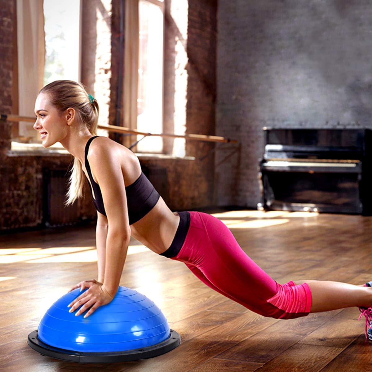 Amazon.com: Gymax Balón de entrenamiento de equilibrio, 23.0 ...