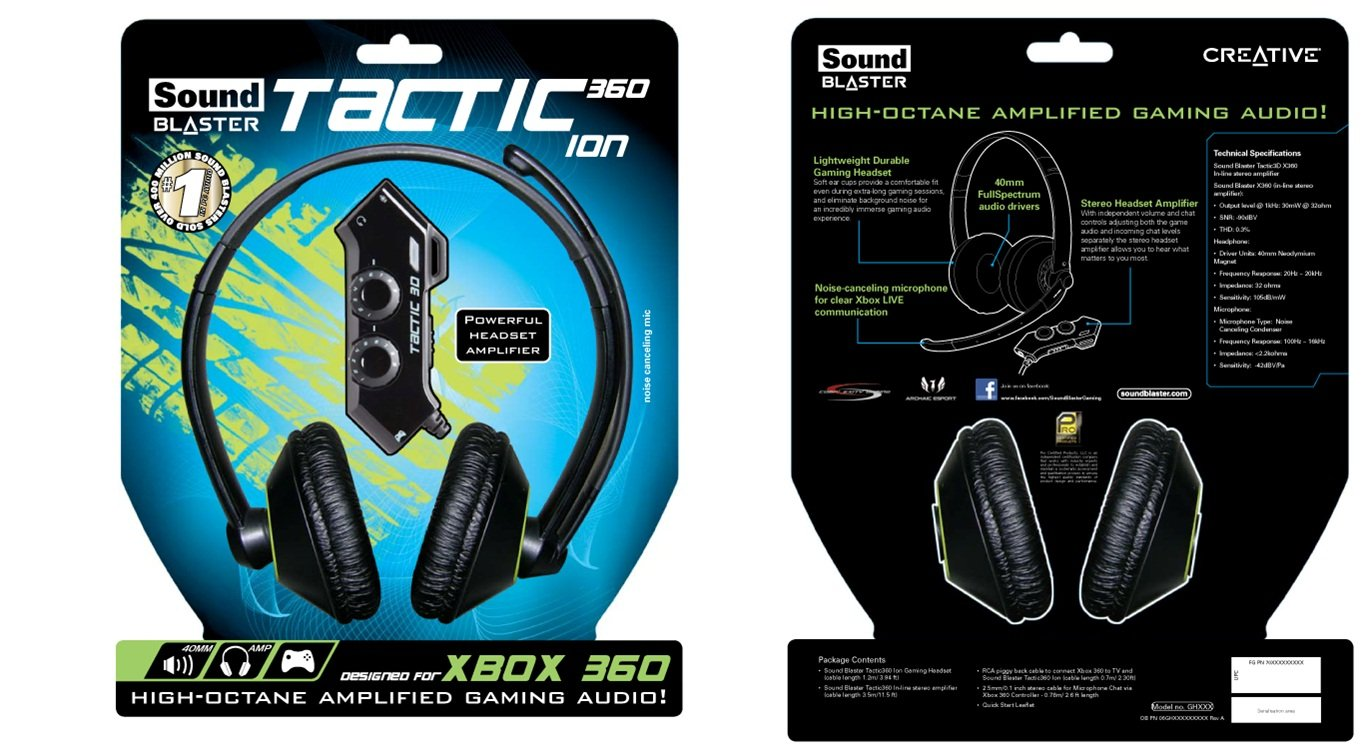 Creative Sound Blaster Tactic360 Ion Gaming Headset (XBOX360/PC/MAC ...