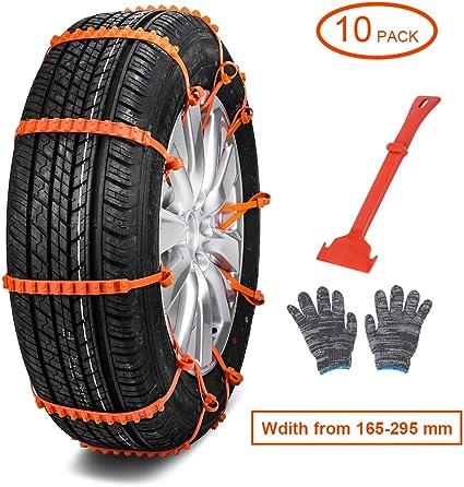 10X coche antideslizante Cadenas Cadena Nieve Neumáticos Rueda Nylon Correa para vehículos