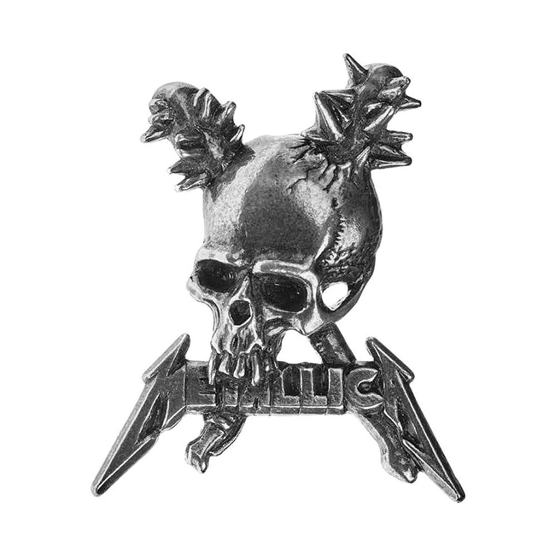 Alchemy Metallica Damage Inc Pewter Pin Badge Silver PC506