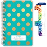 """HARDCOVER Dated Middle School or High School Student Planner for Academic Year 2020-2021 (Block Style - 5.5""""x8.5…"""