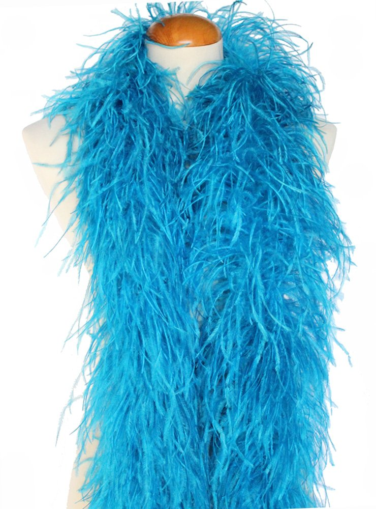 4ply Ostrich Feather Boas, Over 20 Colors to Pick Up (Turquoise)