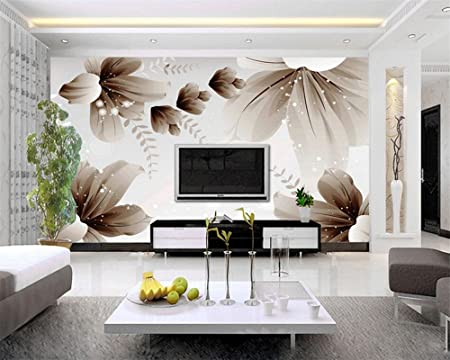 Wapel Custom Photo Wallpaper Modern 48D Wall Wallpaper Floral Art Mesmerizing 3D Design Bedroom