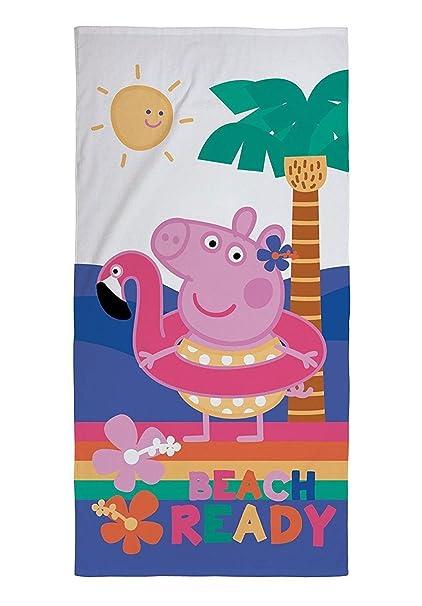 MA ONLINE Peppa Pig - Toalla de Playa para Niños, Diseño de Gallo, Color