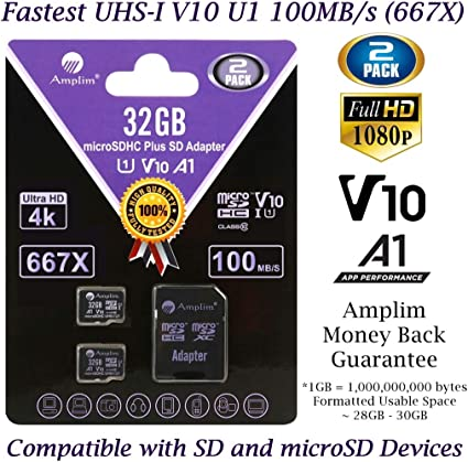 Amazon.com: 64 GB 128 GB 32 GB Micro SD Card Plus Adapter ...