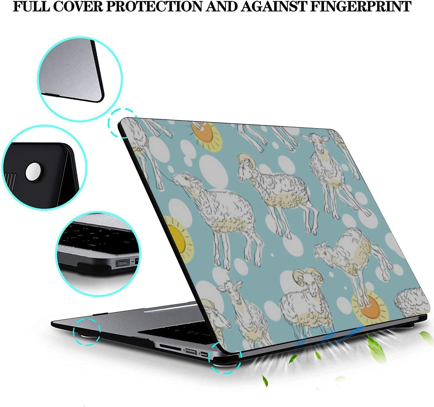 MacBook Air Laptop Case Sheep Retro Wild Animal Naturel Plastic Hard Shell Compatible Mac Air 11 Pro 13 15 MacBook Pro Accessories Protection for MacBook 2016-2019 Version