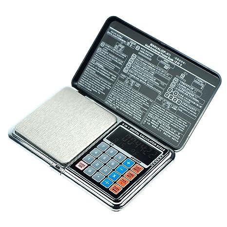 Multi Función de 0.01 g g-500g Peso Calibración Báscula Digital de bolsillo para monedas