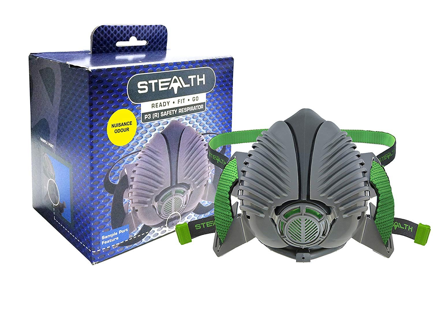 Stealth Reusable Half Mask P3 Safety Respirator - for Dust, Welding & Liquid Mists – with 2x P3 (R) Fitted Filters (Medium/Large) Welding & Liquid Mists - with 2x P3 (R) Fitted Filters (Medium/Large)