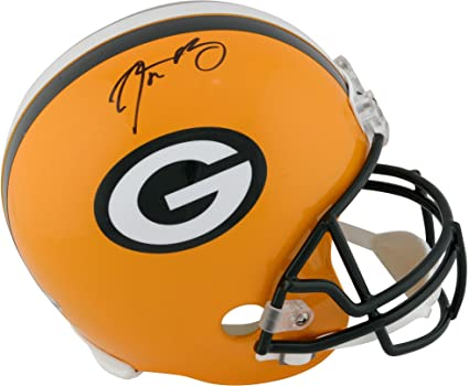 60896dd8b Aaron Rodgers Green Bay Packers Autographed Riddell Replica Helmet - Fanatics  Authentic Certified - Autographed NFL