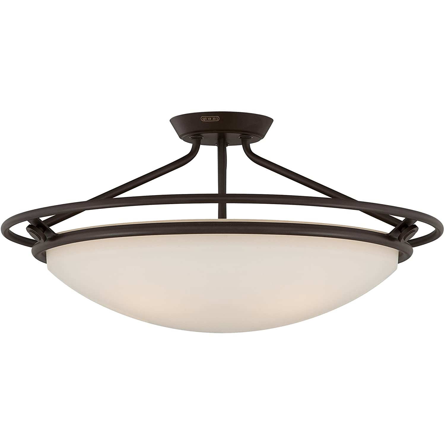 Quoizel Qf1201swt Bowl Semi Flush Ceiling Lighting Western Bronze 4 Light Western Bronze 12 H X