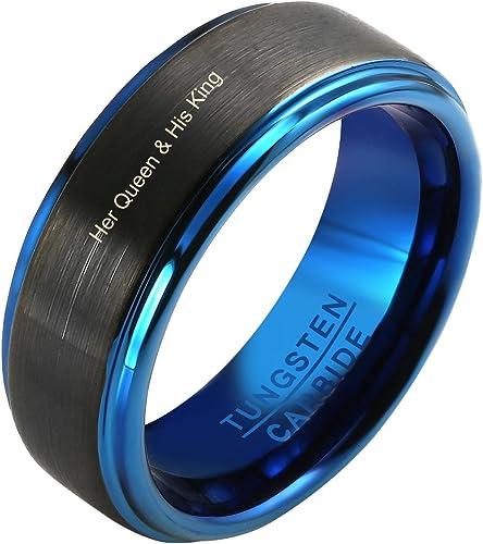 Men/'s Black Wedding Band 8mm Tungsten Ring Black Tungsten Ring Tungsten Tungsten Band Personalized Ring Men/'s Tungsten Wedding Band