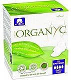 Organyc Nuit Serviettes hygiéniques avec ailettes–100% coton bio, 4-pack (4x 10)
