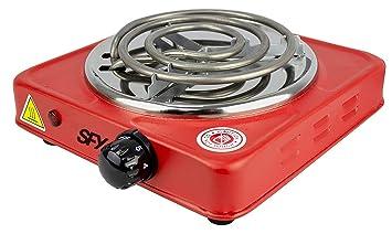 SFY Cocina eléctrica para Shisha cachimba - Hornillo para encender carbón - Placa de Fuego para cocinar - 1000W (ZD1010 Rojo): Amazon.es: Deportes y aire ...