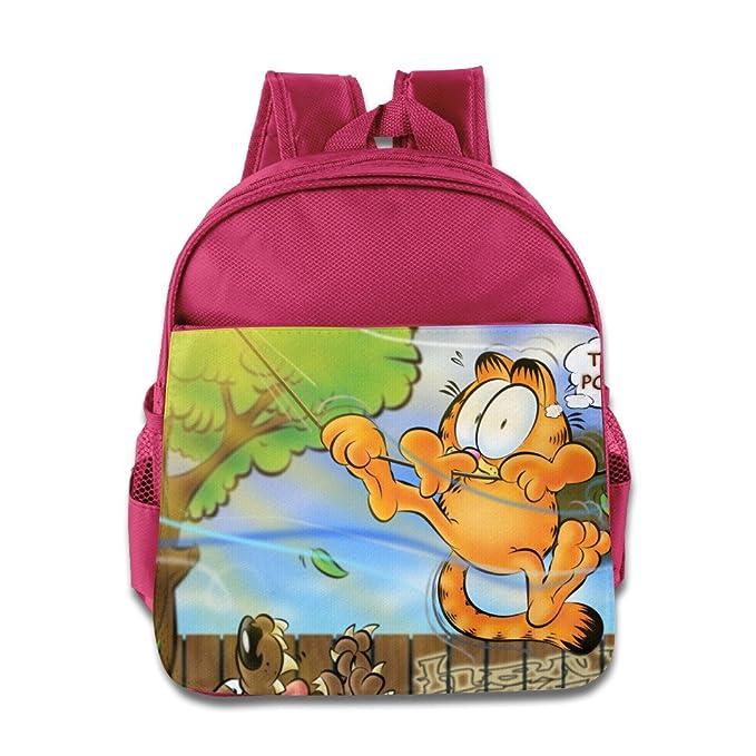 Kids Garfield y sus amigos Mochila Escolar Dibujos Animados Bebé Niños Niñas Escuela Bolsas: Amazon.es: Hogar