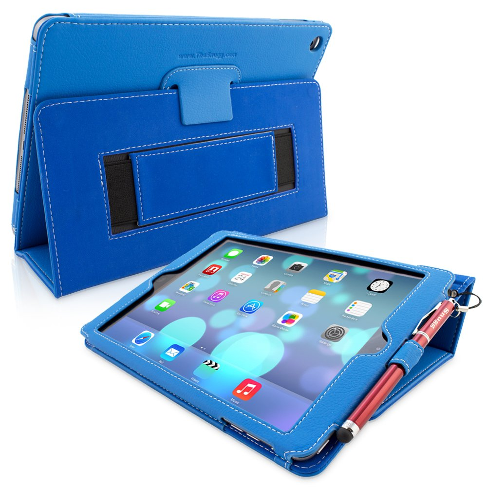 new concept 7f299 09f97 Snugg iPad Air & New iPad 9.7 inch 2017 Case - Smart Cover Case with Kick  Stand & (Electric Blue Leather) for the Apple iPad Air 1 (2013)