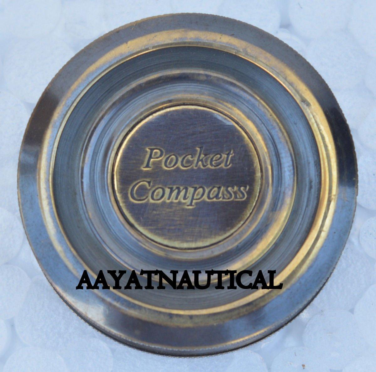 ヴィンテージReproduction Nautical真鍮ポケットコンパスタイタニックコンパスレプリカ B06VW1SY9Z