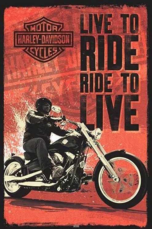Amazon.com: Harley Davidson (Live To Ride) Póster de 24 x 36 ...