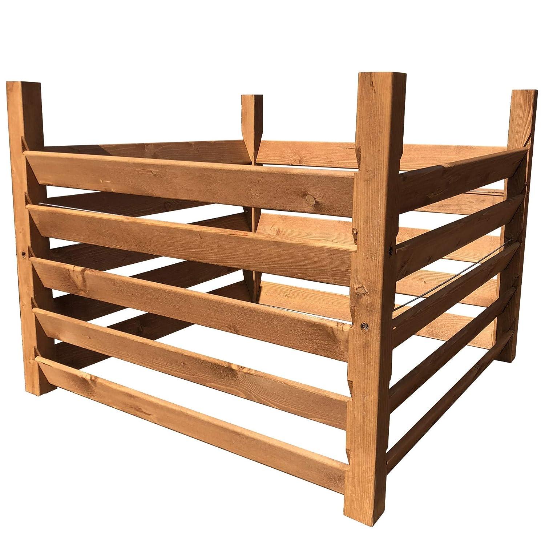 Holz KompostsiloBIO - Komposter mit Zuganker TikTakToo