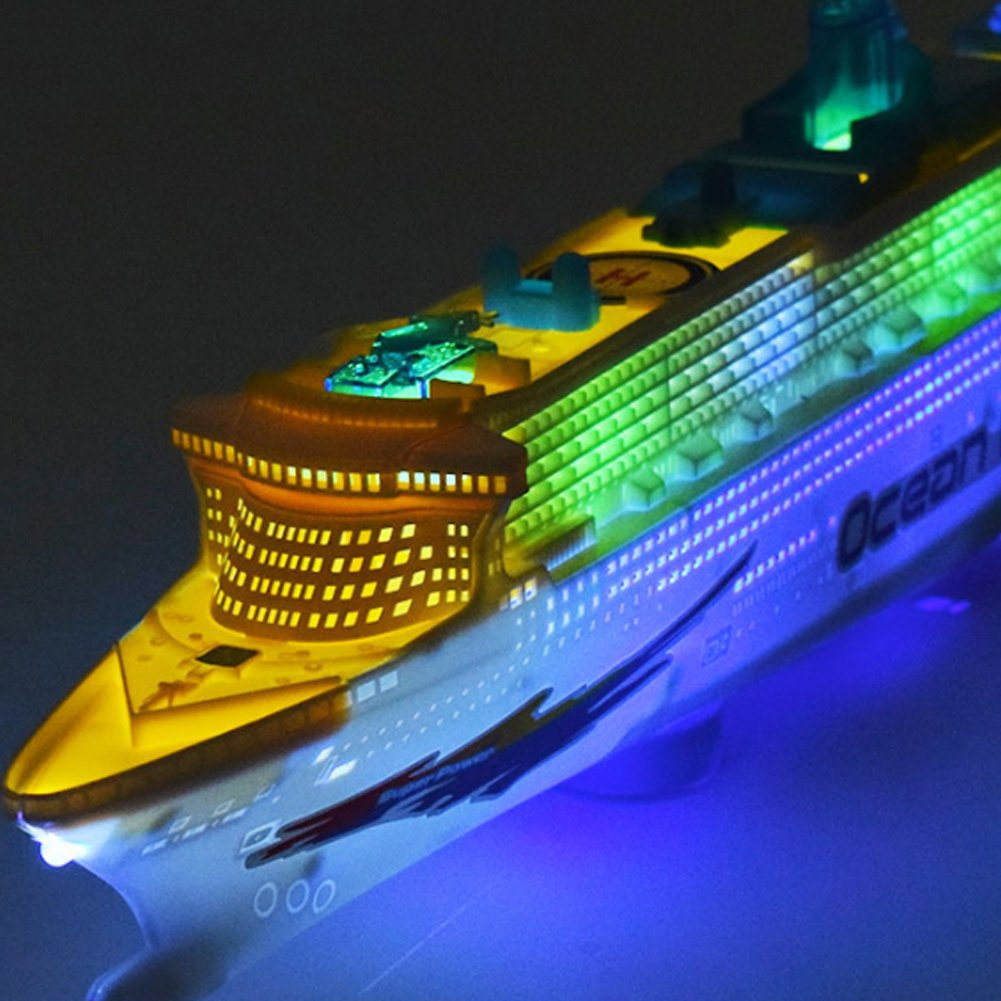 Chinatera Children Music Ocean Liner Flashing LED Sound Electric Cruises Boat Model Toys
