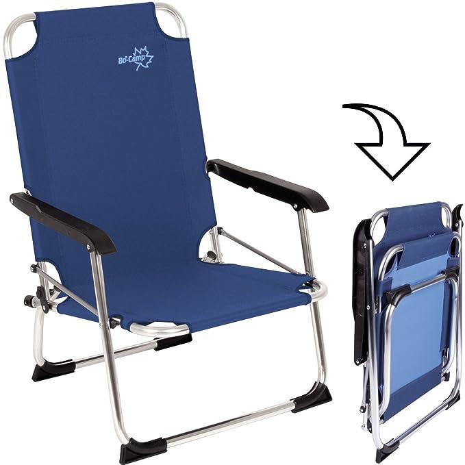 Bocamp-Holland Copa Rio playa plegable-silla Alu azules ...