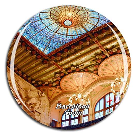 Weekino España Cataluña Concert Hall Barcelona Imán de Nevera 3D ...