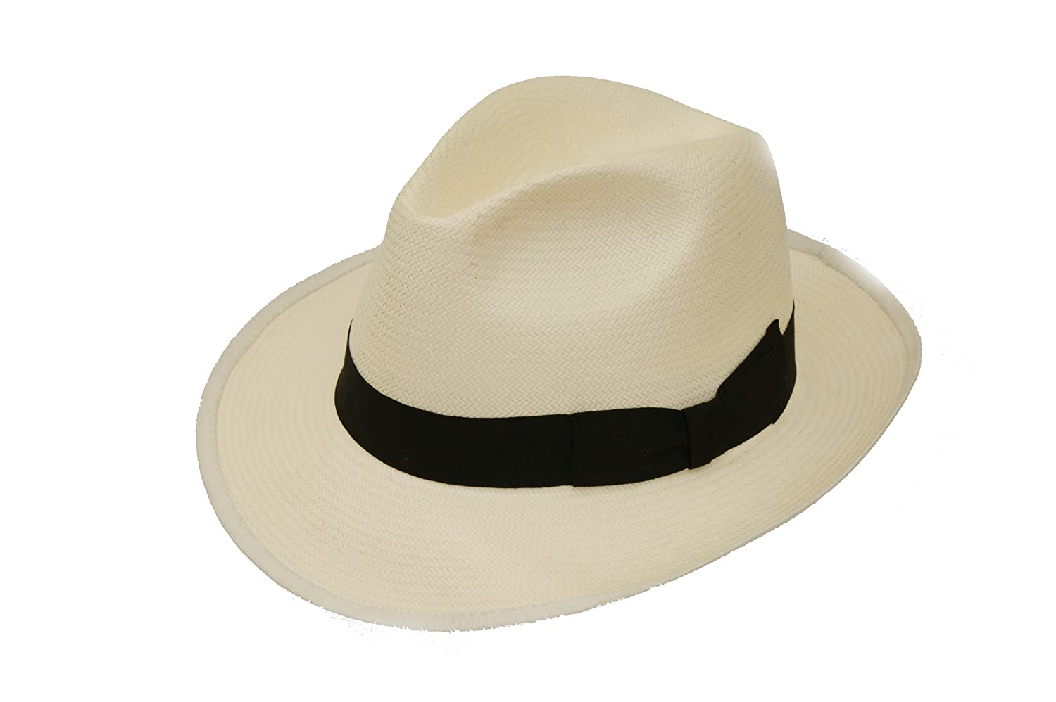 Mens Panama Style Summer Trilby Fedora Hat
