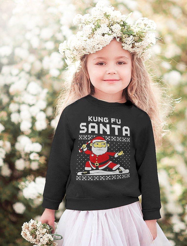 Tstars Kung Fu Santa Ugly Christmas Sweater Funny Toddler//Kids Sweatshirts