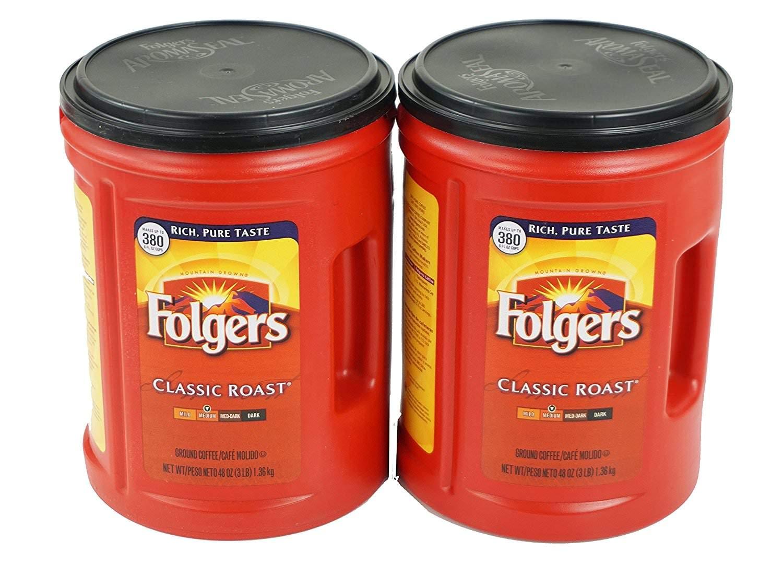 Folgers Classic Roast Ground Coffee (48 oz.)-2 Pack