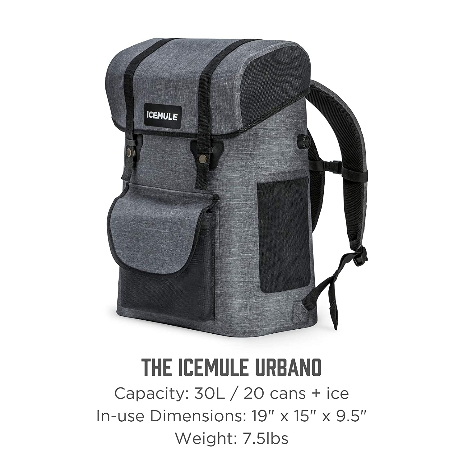 e99389ffec2 IceMule Urbano Insulated Backpack Portable Cooler Bag - Hands-Free,  Highly-Portable, Waterproof, Soft Sided Cooler Backpack for Hiking, The  Beach, Picnics, ...