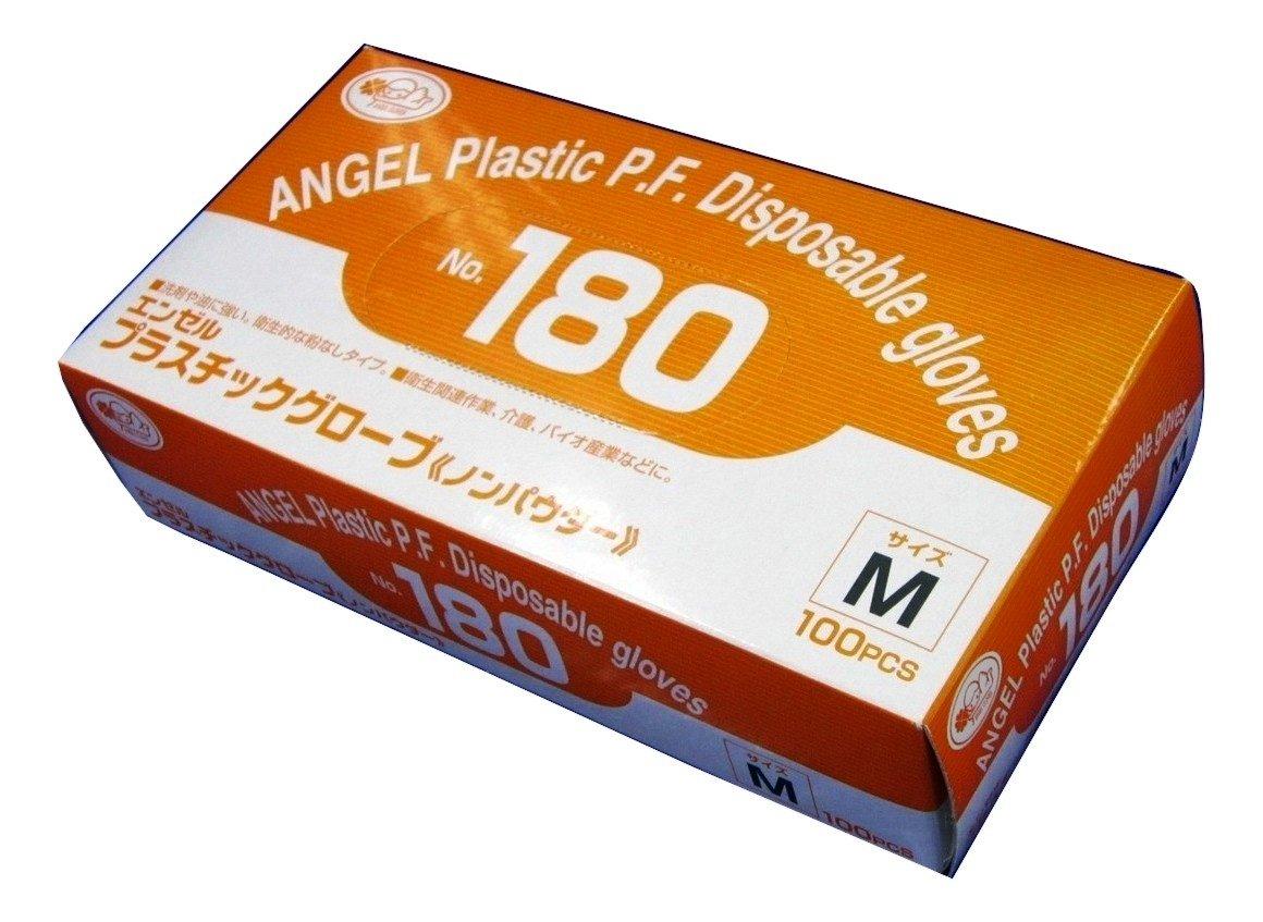 サンフラワー [ケース]No.180 プラスチックグローブ ノンパウダー 100枚×20箱 (M) B00TRZQNF0  M